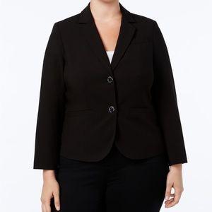 Calvin Klein Two-Button Jacket Black Plus Size 24W
